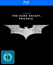 BATMAN - THE DARK KNIGHT TRILOGY Begins RISES 3 Filme + Bonus 5 BLU-RAY Box Neu