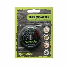 KOMODO ANALOGUE DIAL VIVARIUM TERRARIUM THERMOMETER REPTILE TEMPERATURE