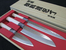 SEKI TOBEI/Japanese chef's kitchen knife 3 pair sets/Sashimi/Santoku/Small Deba