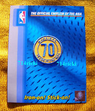 2016-2017 Golden State Warriors 70 Years in NBA 70th Anniversary small patch