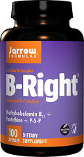 Jarrow Formulas B-Right 100 Capsules, Vitamin B Complex