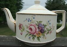 Sadler Roses Flowers ceramic Tea Pot Kettle 3158K Staffordshire England vintage