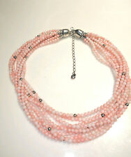 Jay King DTR Angel Skin Coral Multi Strand Sterling Silver Necklace