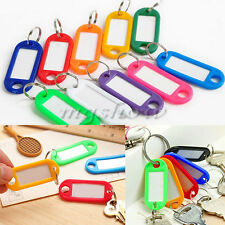 50pcs Travel Plastic Key Ring Name Adress Tags Keyring Luggage Label ID Card New