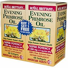 AMERICAN HEALTH Royal Brittany, Evening Primrose Oil 1300mg, 60ct x 2 Bottles