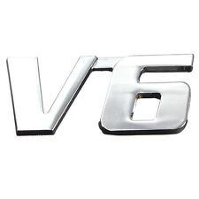 V6 3D Metal Car Sticker Chrome Badge Sticker Emblem Car Decor Graphics Decals
