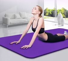 10MM Yoga Mat Gym Exercise Extra Thick Non-slip Cushion Fitness Pilates Soft