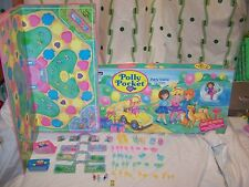 Vintage 1994 Bluebird Polly Pocket Party Board Game Rose Art with accessories