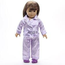 "Purple Pajamas Nightgown Clothes for American Journey My Life Girl 18"" Doll"
