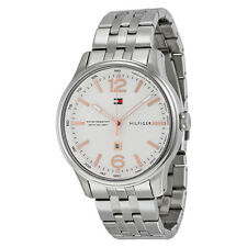 Tommy Hilfiger Andre Silver Dial Stainless Steel Mens Watch 1710313