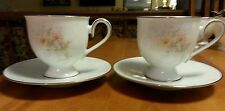Set of 2 Noritake Ireland cup and saucer, vintage 2963 Anticipation.
