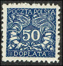 Scott # J28 - 1919 - ' Numerals of value ', For Southern Poland