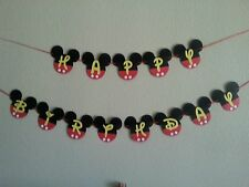 Mickey Mouse Happy Birthday Banner. Free shipping
