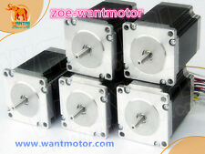 EU free!5pcs Nema23 Wantai stepper motor Dual Shaft 57BYGH115-003B 3.0A 425oz-in