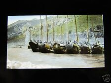 MAGIC LANTERN SLIDE BOATS ONE THE SEA SHORE C1920  JAPAN JAPANESE TAKAGI