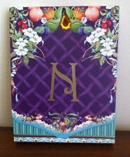 New Notepad Letter N with Fruit and Flowers Small with Magnetic Close