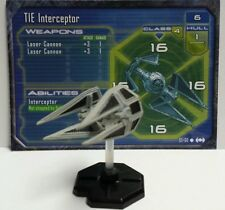 TIE Interceptor Star Wars Mini #57 Starship Battles Miniature SWM CMG