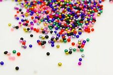 12g Glass Micro Beads No Hole 1.5mm-2mm Nail Art Caviar Marbles Micro beads M-26