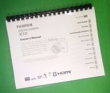 COLOR PRINTED Fujifilm X Compact X10 X-10 Instruction Manual Guide 148 Pages