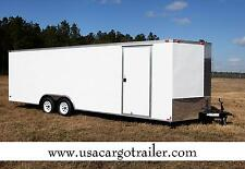 8.5X24 Enclosed Trailer Cargo 5200 lb V-Nose 26 Car Hauler 8 Box Motorcycle CALL