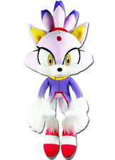 "Next Day Ship Official GE Sonic the Hedgehog Rush 14"" Blaze the Cat Plush Doll"