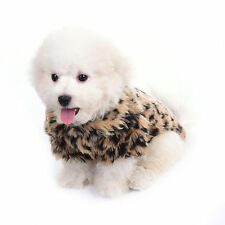 Fashionable Pet Dog Clothes Cozy Classic Leopard Pattern Costume Coat for Dogs