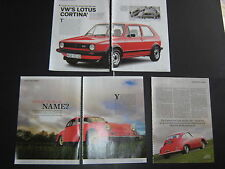 VW Golf GTI Mark 1 VPA87Y artículo y Porsche 356 un artículo de carrera
