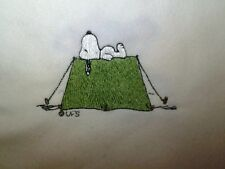 Personalized Embroidery Baby Blanket  with Snoopy on Tent