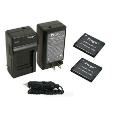 2 x NB-11L Battery + Charger For Canon Powershot A2600 A3400 A3500 A4000 IS