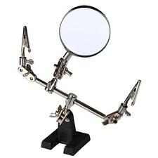 HELPING HAND TOOL MODELING KIT MAGNIFYING GLASS 60mm With Clips