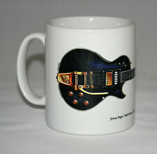 Guitar Mug. Jimmy Page's 1960 Gibson Les Paul Custom Black Beauty illustration.