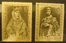 POLANS-STAMPS MNH Fi3030-31 SC2884-85 Mi3178-79 - Polish Kings - 1988, clean