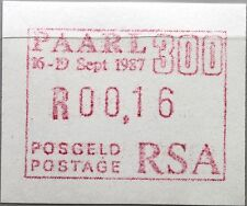 RSA SÜDAFRIKA SOUTH AFRICA 1987 ATM 4 PAARL 300 0,16 Automatic stamp MNH