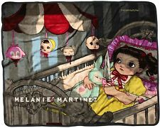 "LICENSED MELANIE MARTINEZ PLUSH ""HANGING HEADS"" THROW BLANKET FREE USA SHIP NEW!"
