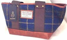 Harris Tweed Handbag Blue Tartan Tote bag women's gift New Authentic!