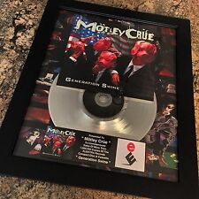 Motley Crue Generation Swine Platinum Record Album Disc Music Award Grammy RIAA