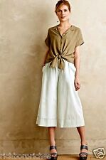 NWT Anthropologie MiH bleach denim pull on Soleri Culottes Pants Skirt S $275