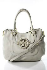 Tory Burch Taupe Leather Amanda Hobo Handbag In Dust Bag New