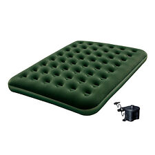 Bestway Inflatable Flocked Camping Airbed Mattress w/ Air Pump - Queen | 12619