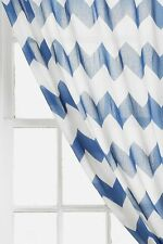 NEW URBAN OUTFITTERS ASSEMBLY HOME navy ZIGZAG WINDOW PANEL CURTAIN W/ TIE BACK