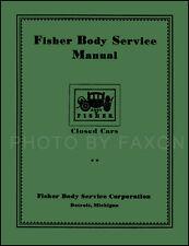 Buick Body Repair Manual 1926 1927 1928 1929 1930 1931 1932 Shop Service Book