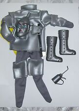 "1/6 SCALE 12"" MALE FASHION DOLL WIZARD OF OZ TIN MAN COSTUME WITH MASK"