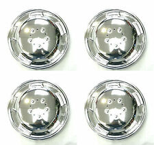 "15"" Chrome Domed Wheel Trims Hub Caps For Mercedes Sprinter R15 Wheels 104"