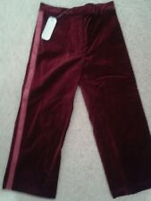 BNWT Linea Girls red velvet Trousers  Age 3-4