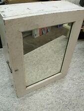 VINTAGE WOOD WALL MOUNT MEDICINE CABINET WITH MIRROR