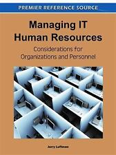 NEW Managing IT Human Resources by Hardcover Book (English) Free Shipping