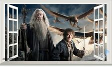 Hobbit Gandalf Bilbo 3D Window Wall Decals Removable Stickers Kids Party Decor