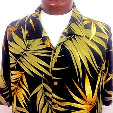 Caribbean Pineapple Hawaiian Shirt Black Silk Blend Mens XL
