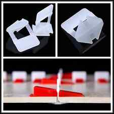 200x White Tile Flat Leveling System Wall Floor Spacers Balance Tools Strap Clip