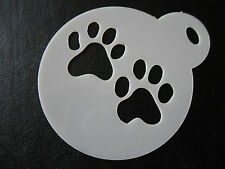 Laser cut small paw prints design cake, cookie,craft & face painting stencil